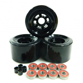 83*52mm 80A Longboard Flywheels Wheels + ABEC 7 Bearings Spacers