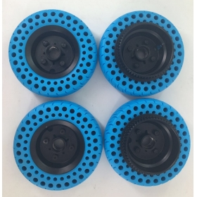 6'' 150*50mm 70A Airless All-Terrain Wheels with Hubs & Pulleys