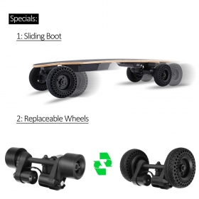 36'' Dual Motor 6'' Wheels All-terrian Electric Skateboard 10S2P