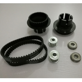 Dual 35T to13T 5M Drive Wheel and Motor Pulley Kit with 2 Belts