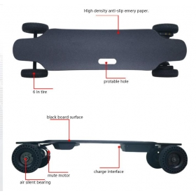 36'' Dual Motor 6'' Wheels All-terrian Electric Skateboard 6S4P