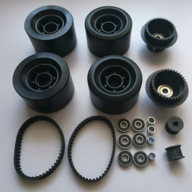 83*52mm Longboard PU Wheels With Dual 35T 13T 5M Pulley Kit