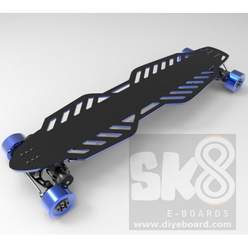 4 Engines Electric Longboard With Aluminum Deck And Housing Volans
