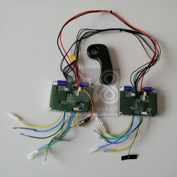 4WD ESC using dual ESC x 2 Speed Control Kit for Four Motors [4WD